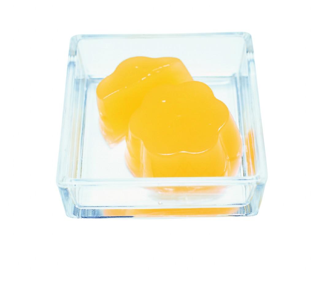 オレンジゼリーの画像